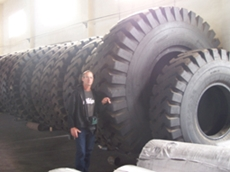Industrial tyres are available with various tread patterns