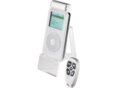 RemoteTunes wireless remote for iPod uses RF technology.