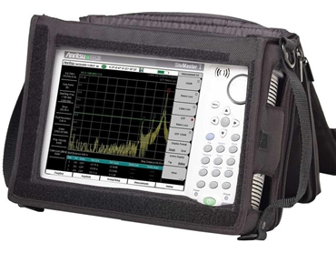 Site Master analyser in a protective soft case