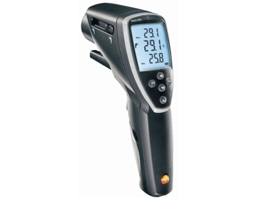 Infrared Thermometer with Switchable Optics