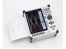 The Hioki 8841 waveform recorder features A4-width recording paper
