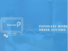 Pervidi paperless work order system is focused on simplicity and ease of use