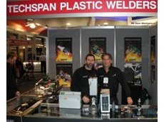 Techspan Plastic Welding and Cutting products on display at National Manufacturing Week 2009 with business owners Tim and Dave Fastnedge.
