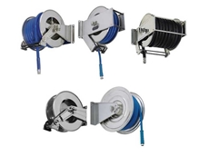 Stainless steel retractable hose reels