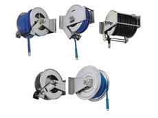 Stainless steel retractable hose reels