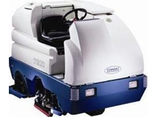 7300 battery operated ride on scrubbers available from Tennant
