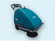 S8 wide area cordless sweepers for light industrial environments from Tennant