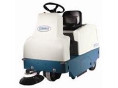 The Tennant 6100 ride on sweeper
