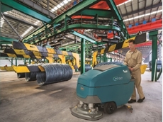 Tennant launches new industrial-strength walk-behind scrubbers