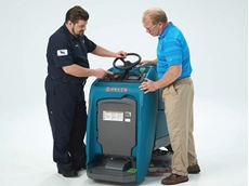 Tennant's T350 stand-on scrubber
