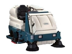 The Tennant 8300 riding sweeper/scrubber.