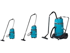 V-Series wet and dry vacuum cleaners from Tennant pick up water from all surfaces