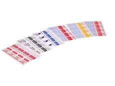 Test tags and safety labels for the electrical industry