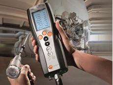 Industrial boiler maintenance with Testo 340 flue gas analyser