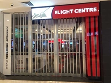 ATDC's folding closure installed at a Flight Centre Group store