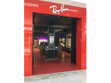 ATDC folding doors installed at Rayban store for security