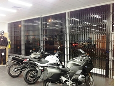 ATDC heavy duty retractable security doors installed at BikeBiz