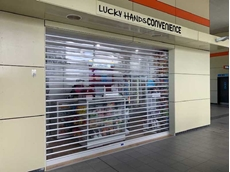 ATDC roller shutters secure retail tenancy at Rhodes railway station