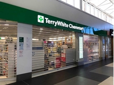 ATDC's RS7 transparent roller shutters installed at QLD pharmacy