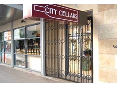 Simon Cant, the proprietor of City Cellars is confident that his stock is adequately protected since installing trellis doors