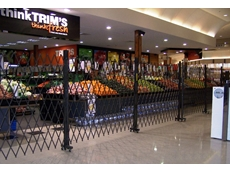 ATDC's trackless barriers at Trim Fresh allow customers to see products even during closed hours