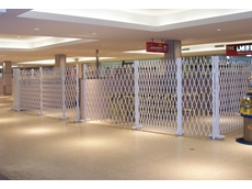 ATDC's trackless trellis security doors at Gosford Town Centre