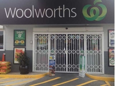 ATDC installed the S06 security door at the main entry to the Woolworths store