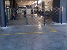 ATDC's retractable security barriers are being installed to secure the Star Carwash wash bays