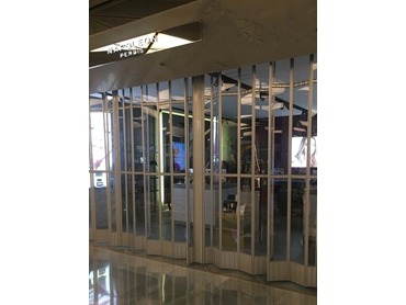 ATDC\'s commercial folding doors installed for Napoleon Perdis store