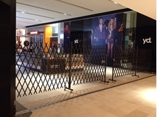 Multiple extendable gates from ATDC were recently installed throughout Westfield Fountain Gate shopping centre