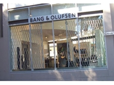 Australian Trellis Door Company expanding trellis security doors at Bang & Olufsen
