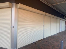 Commercial roller shutters with remote control