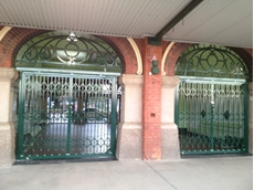 Folding security gates for Townsville railway refurbishment