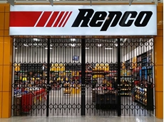 High grade security gates secure Repco Penrith shopfront