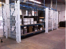 ATDC's steel warehouse racking gates