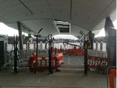 The safety barriers at the Barrangaroo ferry terminal were installed at a height of 2400mm