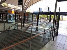 ATDC pedestrian barriers at Olympic Park Railway Station, Sydney