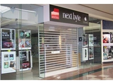 RS7 ClearVision industrial roller shutter security doors in mall shopfront application