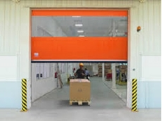 Rapid roll high speed doors