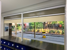 ATDC installed heavy duty commercial roller shutters in the canteen at Shalvey Public School