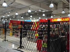 ATDC's safety barriers at Liquorland