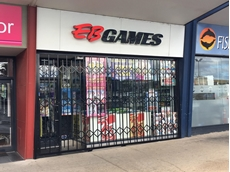 EB Games installed ATDC's S06 security shutters as a deterrent against future break-and-enters.
