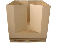 Collapsible bulk packs from The Cardboard Pallet Company