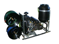 Skid mounted water jetter