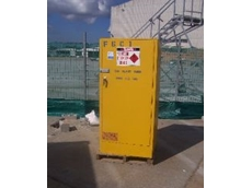 Flammable goods cage