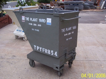 The Plant Yard Pty Ltd Forklift Bin offered on the Sydney Forklift Hire Equipment wesbite