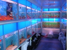 A range of aquarium products and supplies available from the Reef Shop