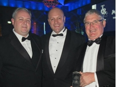 David Hodgett MP (centre) with Bob Reynolds, Managing Director of Thermofilm Australia (right), and Thermofilm's Operations Manager, Ben Murphy