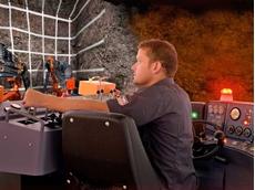 ThoroughTec's CYBERMINE simulator for the training of Sandvik DD420 operators