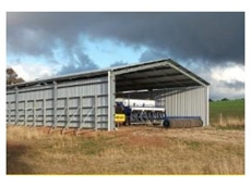 Grain storage sheds